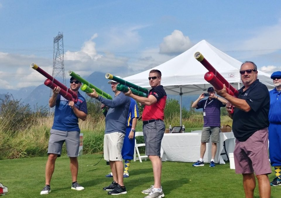 Golf Cannon at Kwikwetlem Golf Tournament — at Swaneset Bay Resort & Country Club.